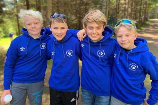 Fire gode venner på Friluftscamp